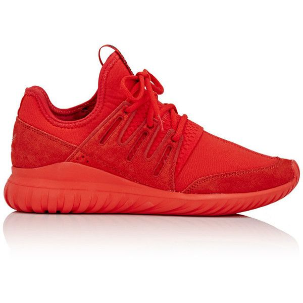 adidas Men's Men's Tubular Radial Neoprene & Suede Sneakers ($69) ❤ liked on Polyvore featuring men's fashion, men's shoes, men's sneakers, berry, mens slip on shoes, mens round toe shoes, mens suede sneakers, mens low tops and mens slipon shoes