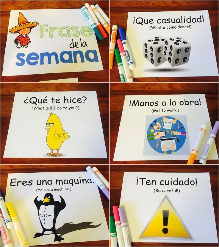 Frase de la semana - great way to easily incorporate real life, common phrases into Spanish class through repetition. By Sol Azúcar