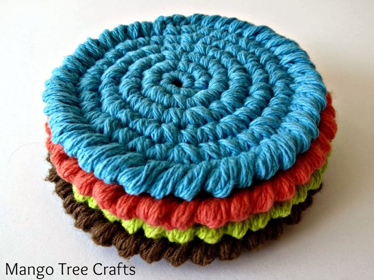 155 best Coasters Crochet images on Pinterest   Knit crochet ...