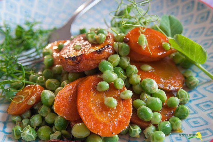 Zanahorias asadas con miel y guisantes {Ottolenghi's carrots & peas}