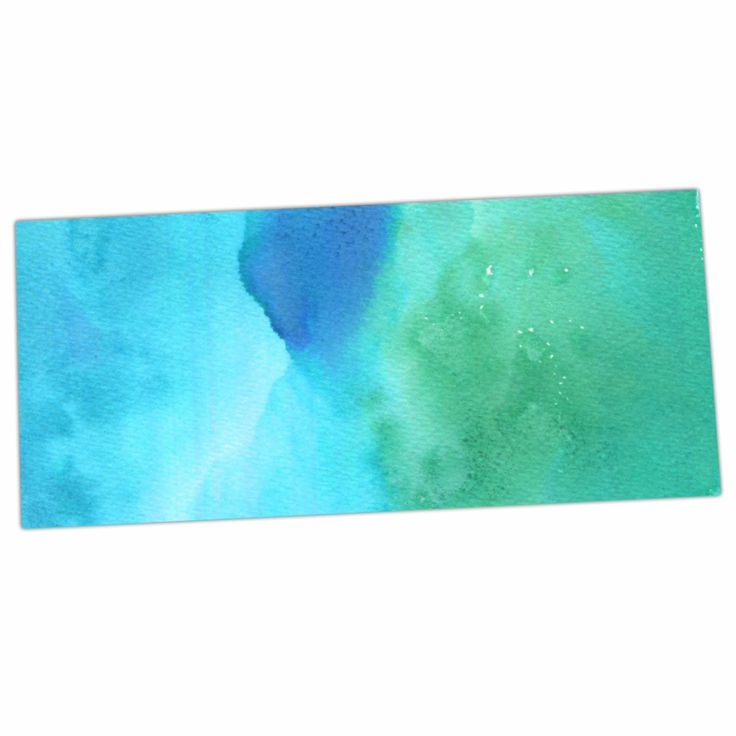 "Li Zamperini ""Marine"" Green Blue Desk Mat"