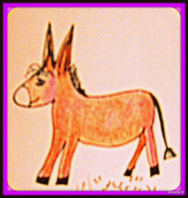 Donkey draw by my innerly child by Annette Lemaire ©