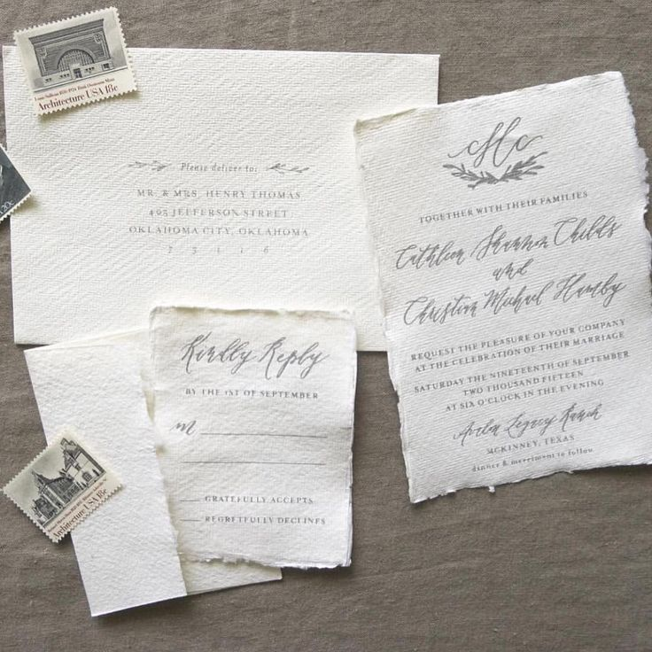 sample of wedding invitation letter%0A Love the texture of this invite suite