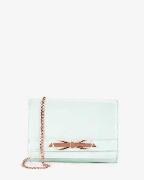 Patent leather cross body bag - Mint   Bags   Ted Baker UK