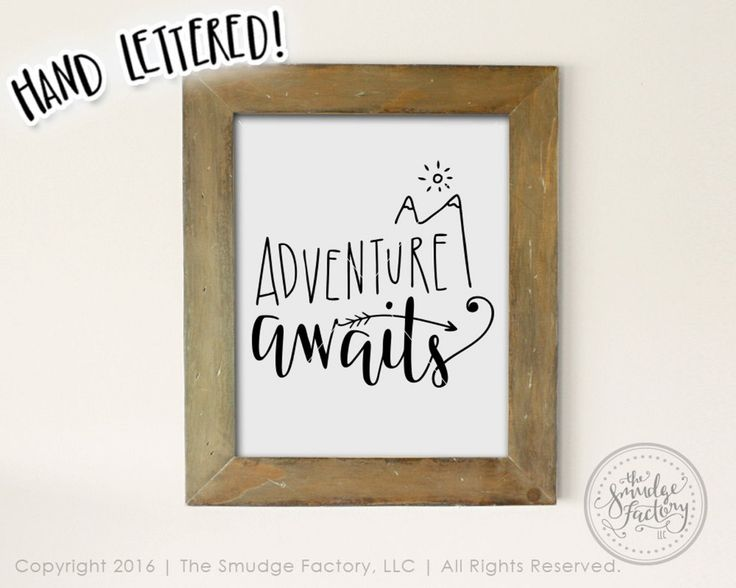 Adventure Awaits Printable File, Wanderlust, Adventure DIY Print, Hand Lettered , Calligraphy Wall Art Decor, Download Graphic Overlay – ETSY INSPO