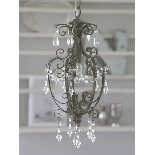 Chic Antique / Kovový lustr Antik grey