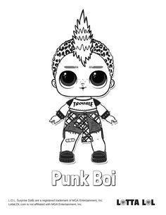 Lol Surprise Punk Boy Coloring Pages, 2020 | Boyama ...