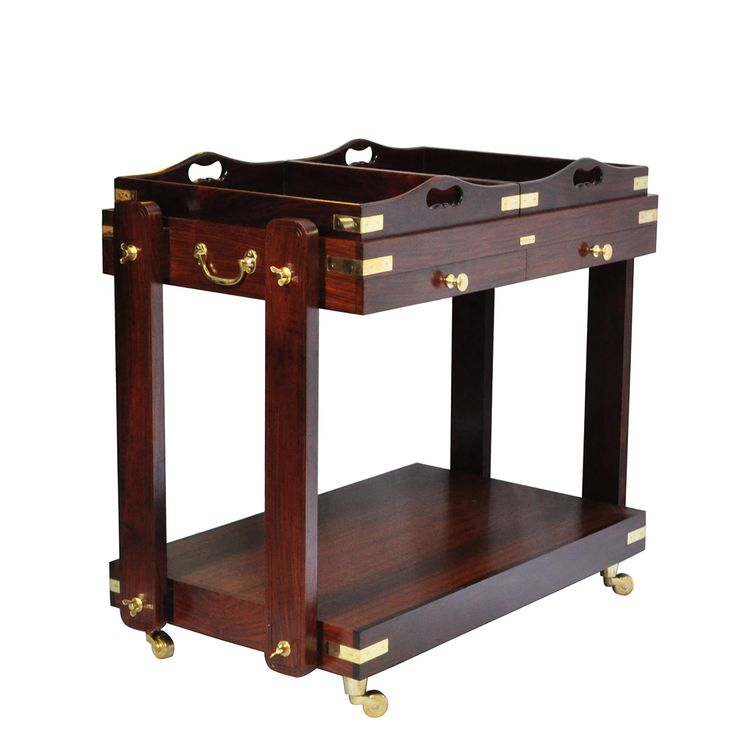 This Rosewood Two Tier Serving Trolley Is An Extremely Versatile Accessory  For Your Evening Tea Or