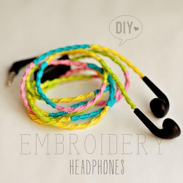 DIY: Embroidery Headphones / Auriculares de Colores