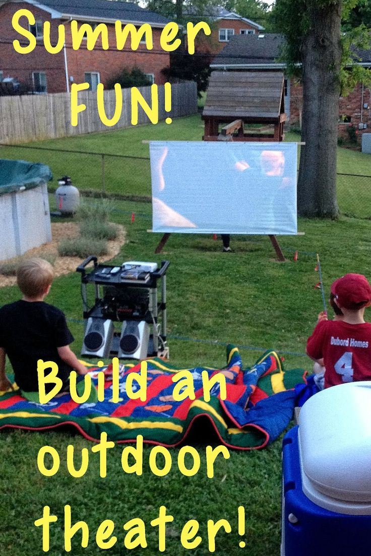 91 best Backyard theater ideas images on Pinterest | Outdoor movie ...