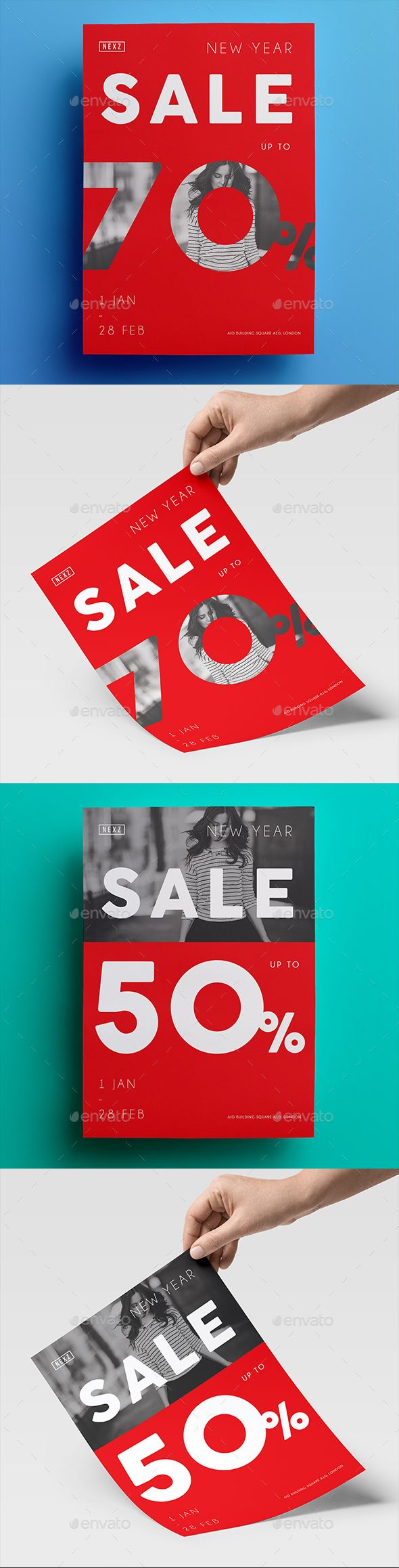 Sale Flyer — Photoshop PSD #promo #off • Available here → https://graphicriver.net/item/sale-flyer/19254675?ref=pxcr