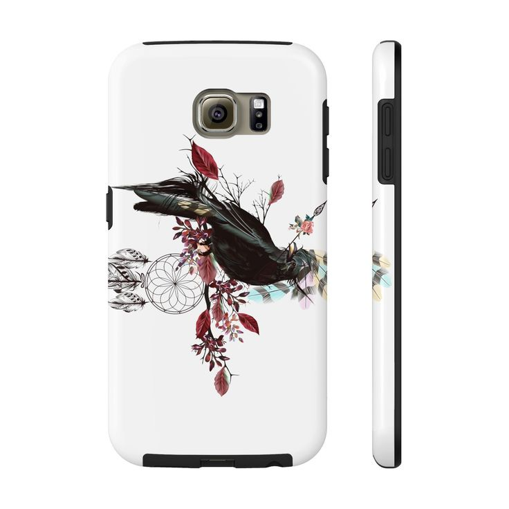 JadeCrate - Black Bird Fly - Durable Phone Case