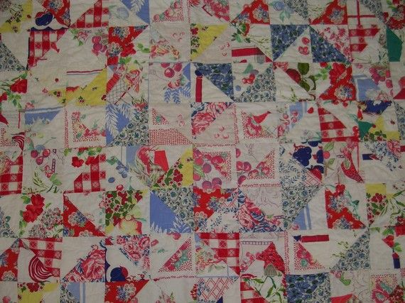 Vintage Tablecloth QuiltFree Shippingsale By QuiltAttic On Etsy, $184.00