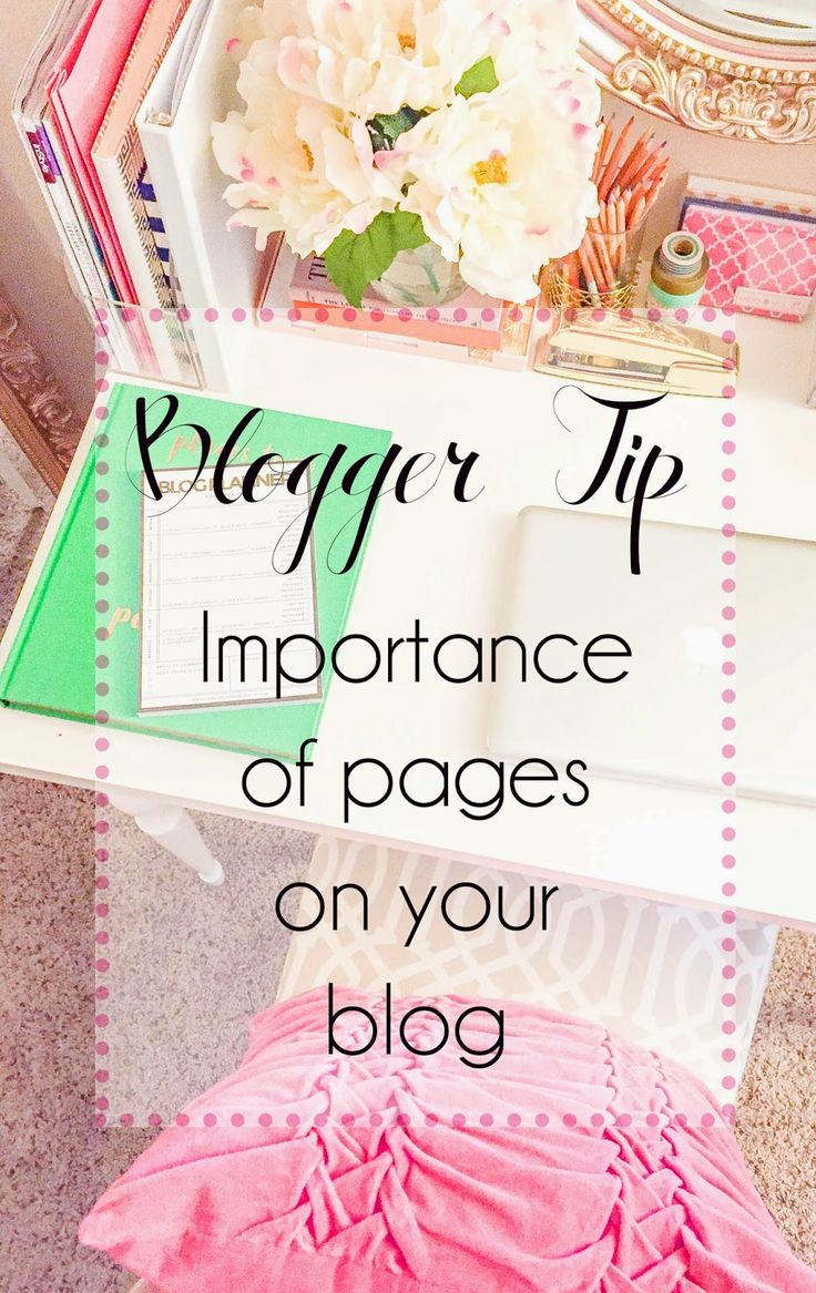 Blogger Tip Thursday {pages} // Which pages every blogger should have & what needs to be one them. #bloggertip #tips