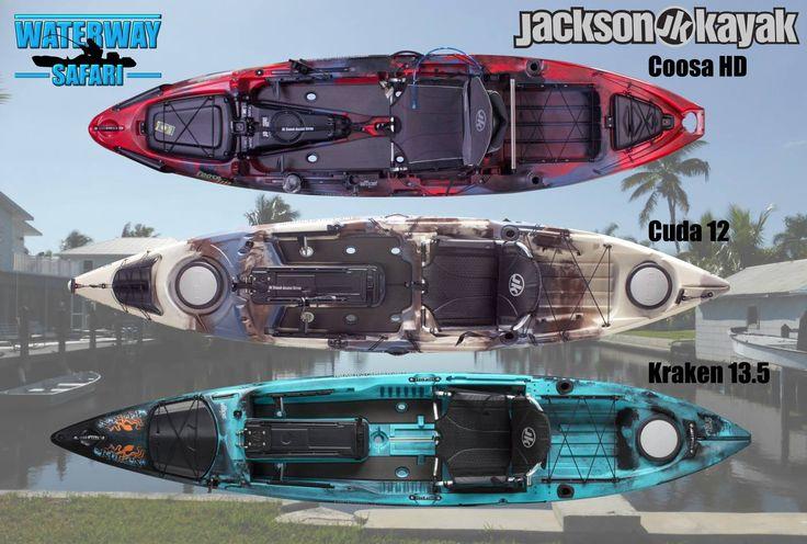 Waterway Safari - Dein Angelerlebnis in Florida mit #JacksonKayak: Die folgenden 2017er Jackson Kayak Modelle liegen für euch am Fishermen's Paradise in Matlacha bereit: #CoosaHD, #Cuda12 und #Kraken13.5 ! Ausgerüstet sind die Kayaks jeweils mit einer Astral Schwimmweste, einem Bending Branches Paddel und einem Anker inklusive Ankerseil. #Matlacha #Jackson #Florida #Ausflug #fishing #fish #Urlaub #Angeln #Angelausflug #USA #Waterway #Safari #waterwaysafari #kayak #premium