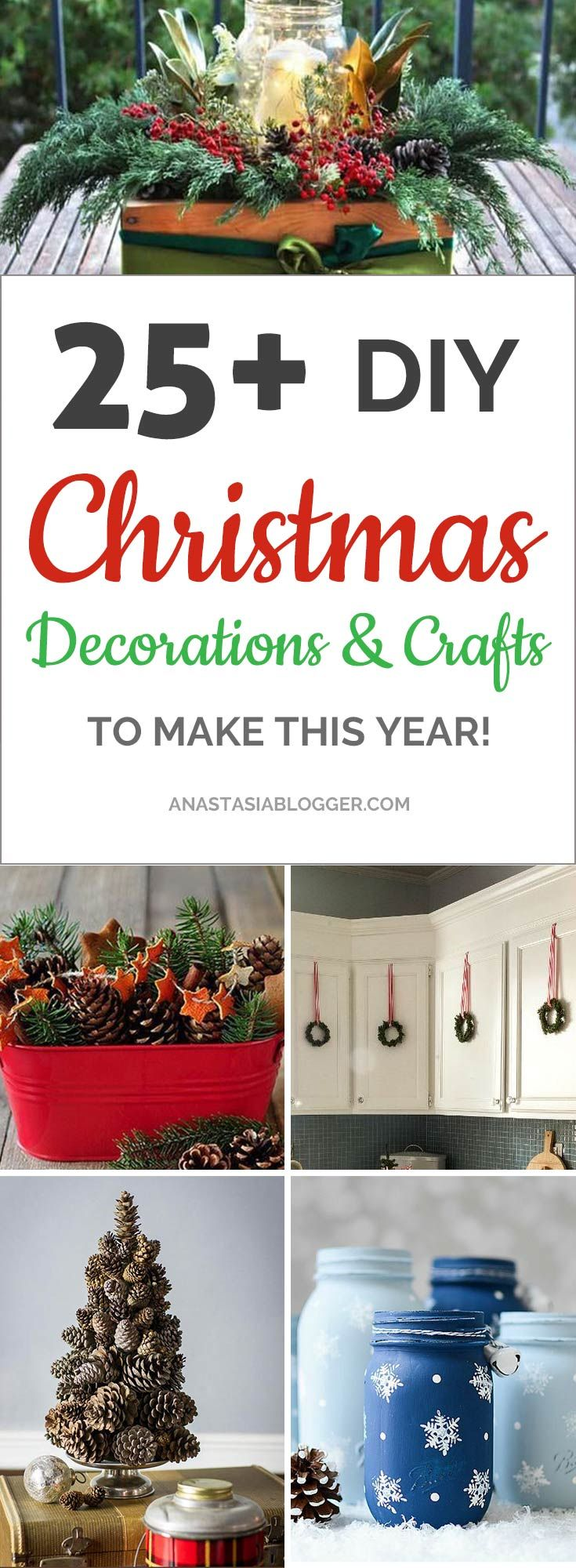 Cheap and easy Christmas decor ideas and Crafts. Find here Xmas decorations DIY for outdoor, living room and other spaces in your home or apartment.  Here are the Christmas decor ideas 2017 on Pinterest! #xmas  #christmas #christmasdecor
