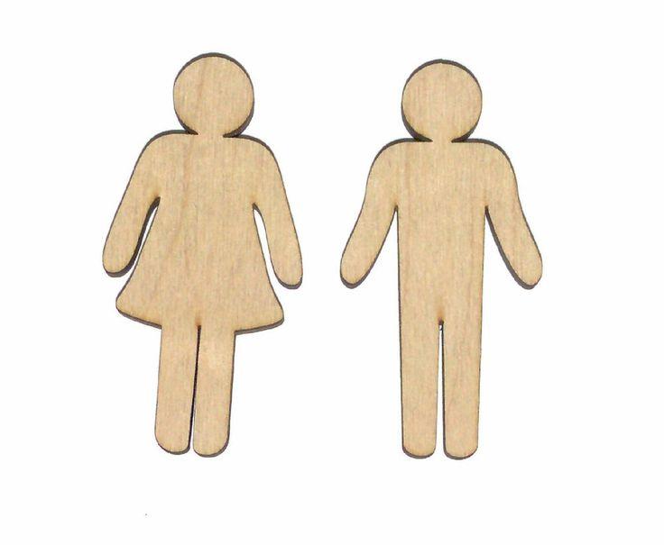 Female Male Icons Unfinished Flat Wood Shape Cut Out FM3762 Variety Szs Craft    #LaserwoodysLindahlWoodcraftsLaserCrafts