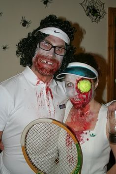 After surfing the web, I've compiled the best ideas for DIY tennis-themed Halloween costumes for both tennis chicks and dudes - and couples! And here they are!