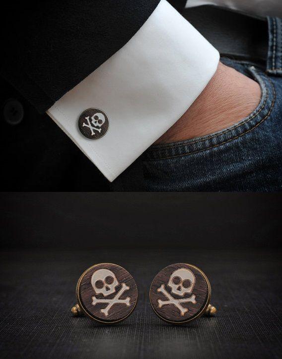 Skull Cufflinks by Goth Chic - Skullspiration.com - skull designs, art, fashion and more