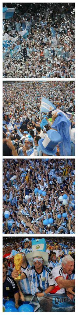 #Brazil 2014 Argentina #ARG Fans - vamos ♥ #WorldCup