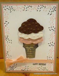 Happy Birthday Card created with Sprinkles of Life stamp set from Stampin' UP!; also using the Tree Builder punch