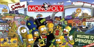 The Simpsons Monopoly board game.