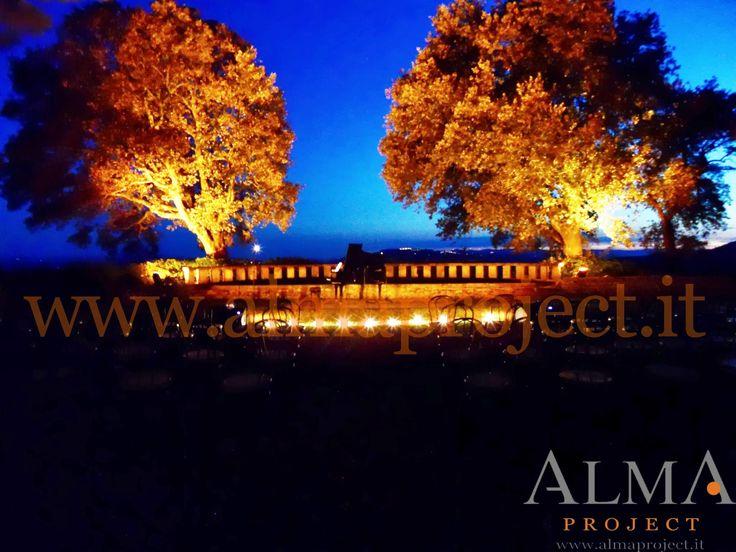 ALMA PROJECT @ Borgo Pignano - 150watt spots on trees_black coda piano