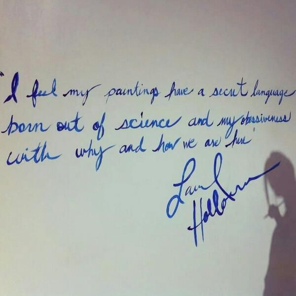 reason for painting from a great artist....Laurel Holloman