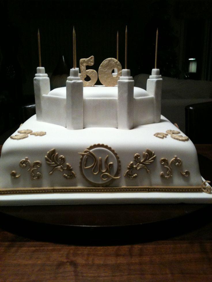 50th Anniversary Cake Church Golden