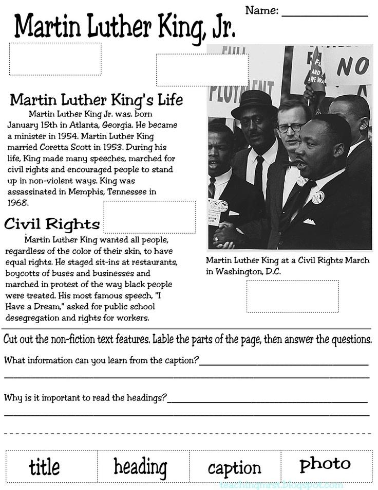 MLK nonfiction text features