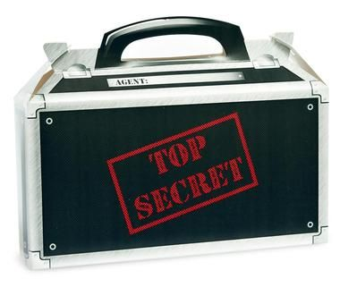"""Send your guests home with some top secret supplies in these Secret Agent Empty Favor Boxes! Includes 4 empty favor boxes that each measure 6""""""""W x 4""""""""H x 3""""""""D. Some assembly required.Includes: (4) the                                                                                                                                                                                 More"""