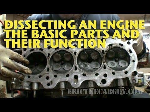 Dissecting an Engine, The Basic Parts and Their Functions - EricTheCarGuy - YouTube