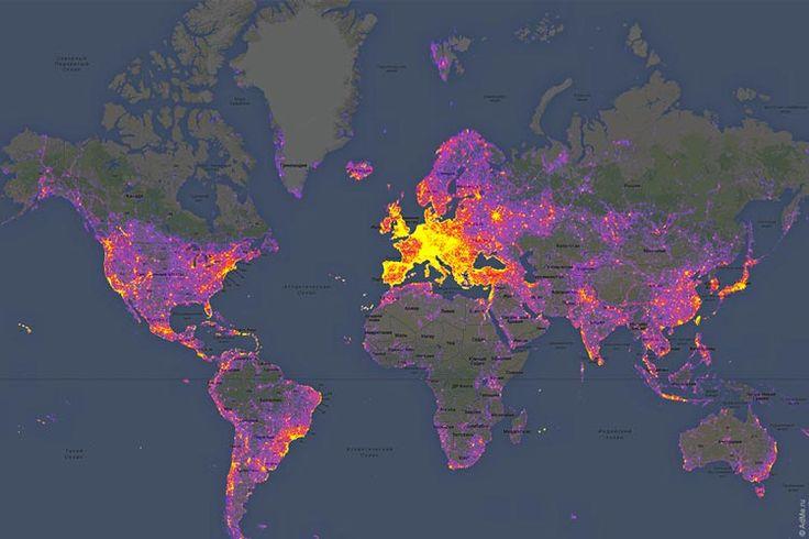 Необычные карты мира