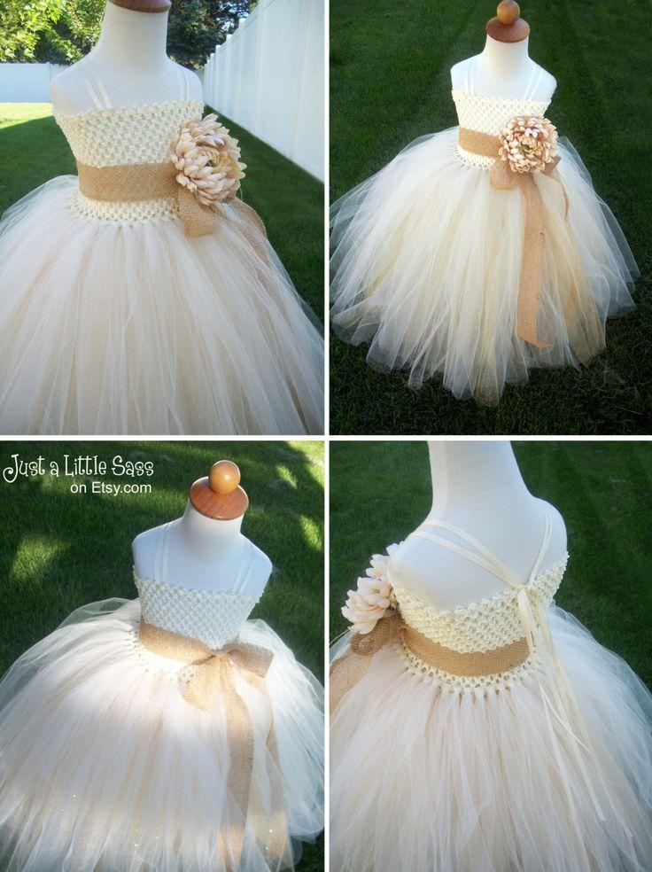 Vestido de niña de las flores rústico por JustaLittleSassShop