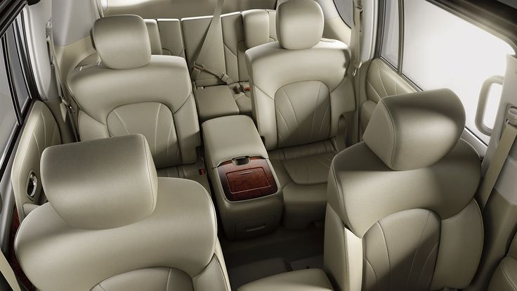 2017 Nissan Armada Interior with 3 Row Seating