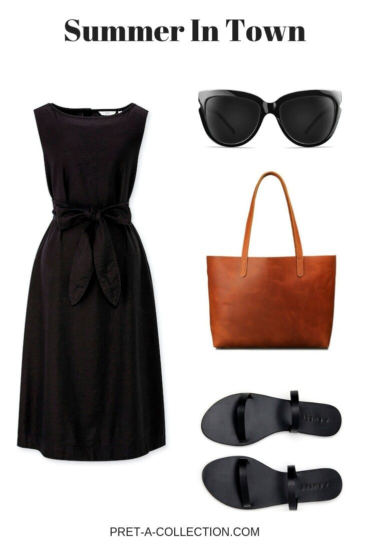 Summer minimalist outfit.