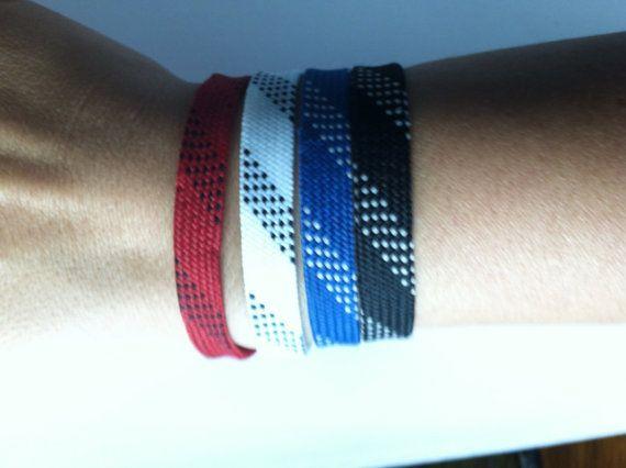 Hockey Lace Bracelets by AngelasLittleCorner on Etsy, $3.00