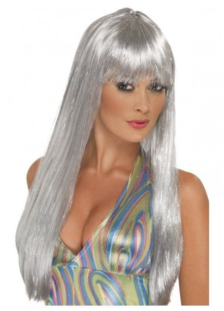 Let's Party With Balloons - Smiffy's Glitter Disco Wig Silver, $30.00 (http://www.letspartywithballoons.com.au/smiffys-glitter-disco-wig-silver/)