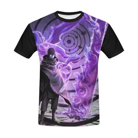 797444ad1 Naruto Shippuden Sasuke Uchiha   Susanoo Fighting Wallpaper T Shirt ...