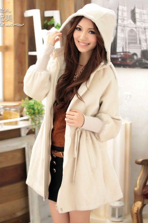 BAJU KOREA - PAKAIAN MUSIM DINGIN - Apricot hoodie - QFM - Import - di WWW.BUTIK-FASHION.COM