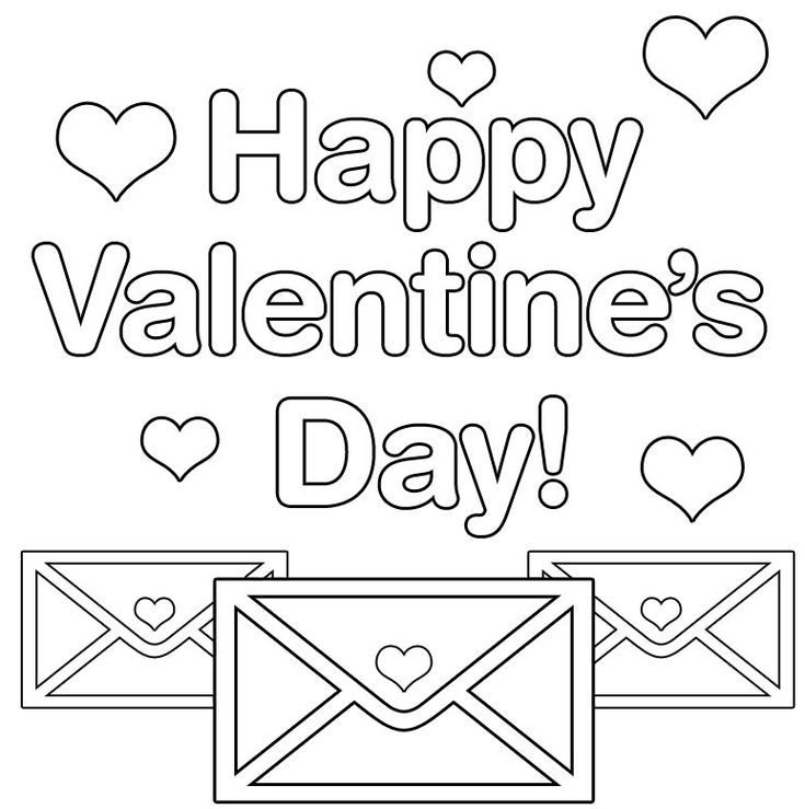 Happy Valentines Day Coloring Page Preschool Activities
