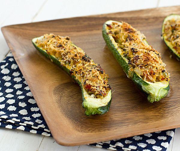 Stuffed Zucchini with Parmesan Panko   Recipe   Stuffed Zucchini ...