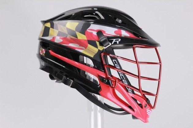 .@Cascade Lacrosse and @GorillaWrapz Collab for Custom Maryland Helmets http://goo.gl/Yl56Ll