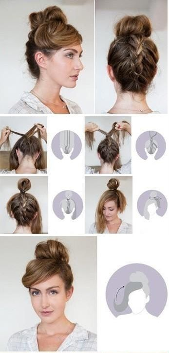 Braided-Back Bun #braid #bun #hair