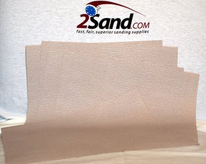 "Get consistent and uniform finish with these long lasting dry sanding paper sheets.      Full resin bonded premium aluminum oxide abrasive grains cut fast and highly resist clogging.      Extra soft and flexible backing for better hand sanding needs.      Choose grits between 40 and 600 on the product page.        9"" by 11"" sheets available in P40, P60, P80, P100, P120, P150, P180, P220, P240, P280, P320, P360, P400 and P600 grits.$5.28: 600 Grits, Aluminum Oxidized, Hands Sands, Bond Premium, Better Hands, Resins Bond, Grains Cut, Full Resins, Abras Grains"