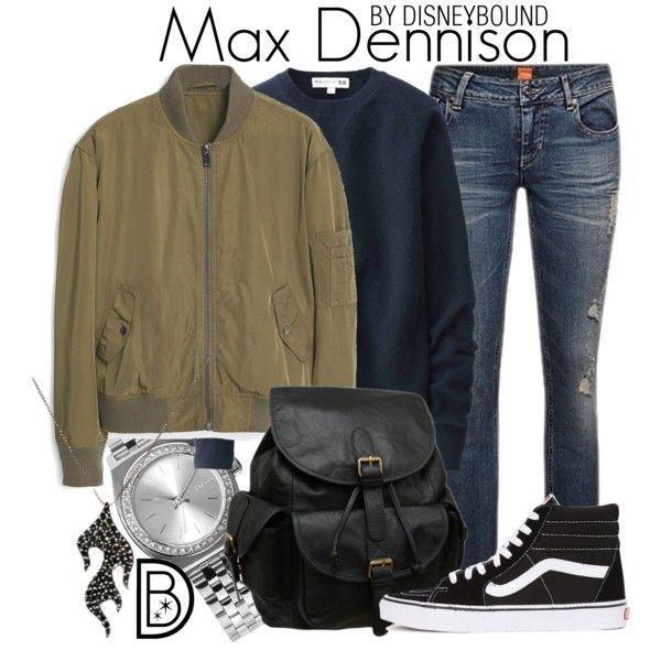 Max Dennison by leslieakay on Polyvore featuring Uniqlo, MANGO, Vans, AmeriLeather, Nixon, Halloween, disney, disneybound, disneycharacter and hocuspocus