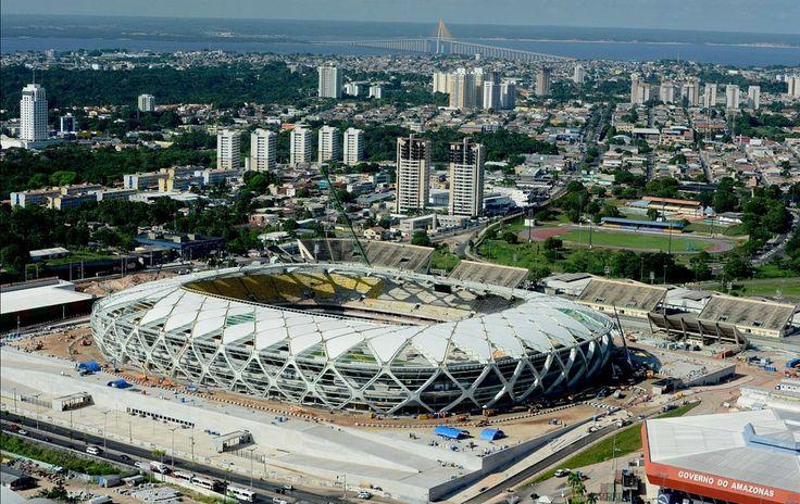 globoesporte - Fotos mostram Arena da Amazônia praticamente pronta - fotos em am