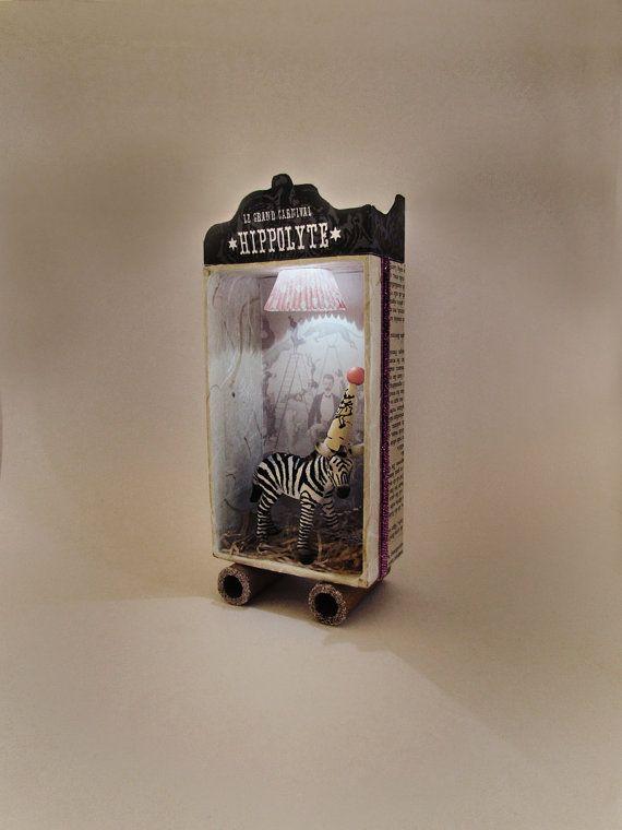 Shadow light box 3D frame diorama Hippolyte by ILaBoom on Etsy, $38.00