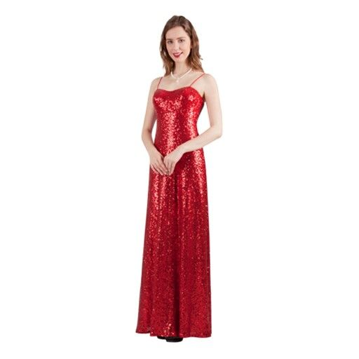 It's your time to shine with this glamorous sparkly red dress