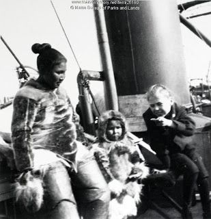 Photo of (L to R) Ahlikahsingwah, Anaukaq and Marie Peary in Greenland, 1902. Peary even bragged about his affair with Ahlikahsingwah in his 1898 autobiography, proving to his readers his masculinity and dominance. To Peary, Inuit women were nothing more than pleasures for he and his men.